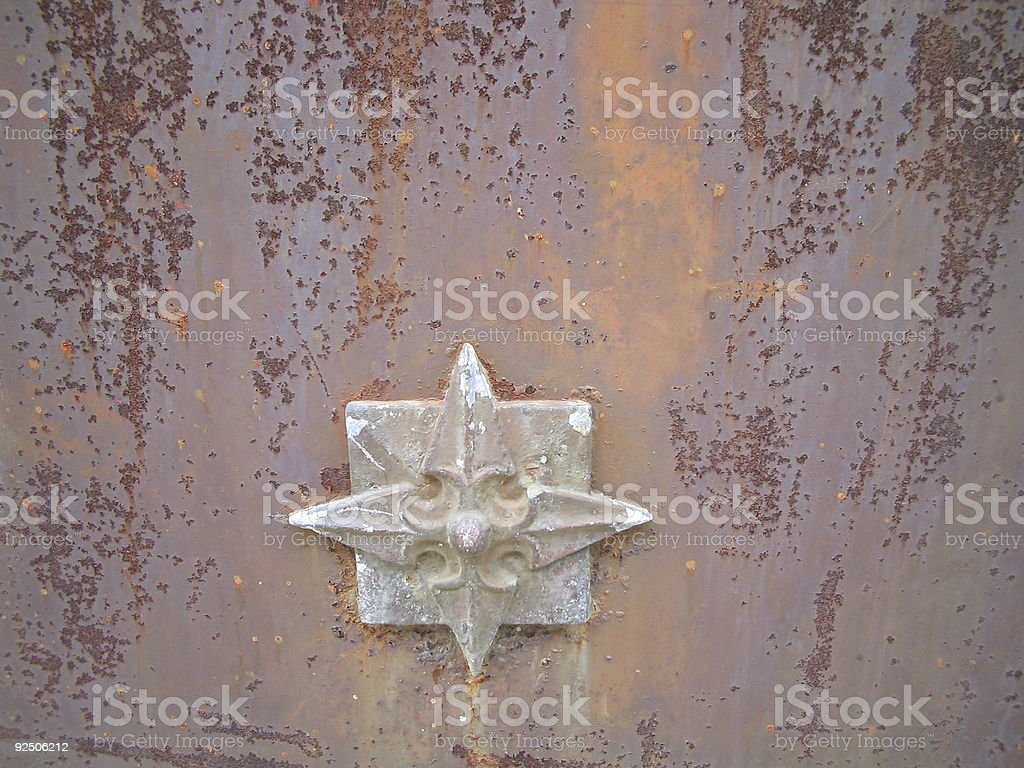 Rusted Star royalty-free stock photo