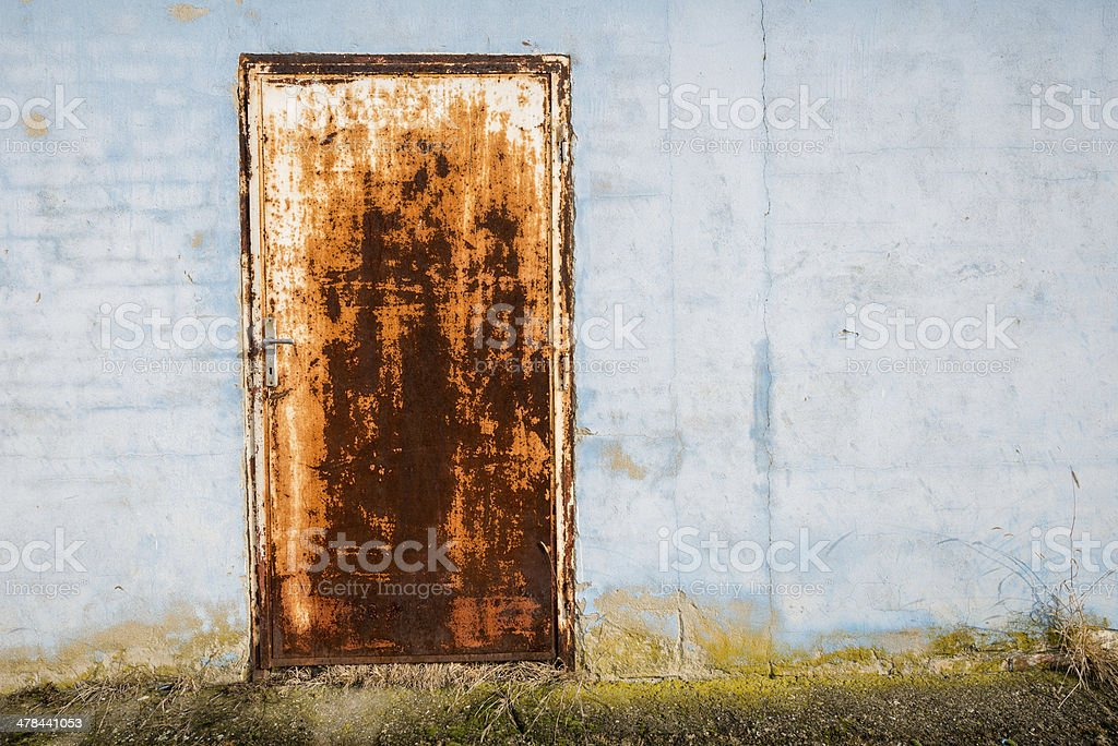 Rusted Steel Door royalty-free stock photo