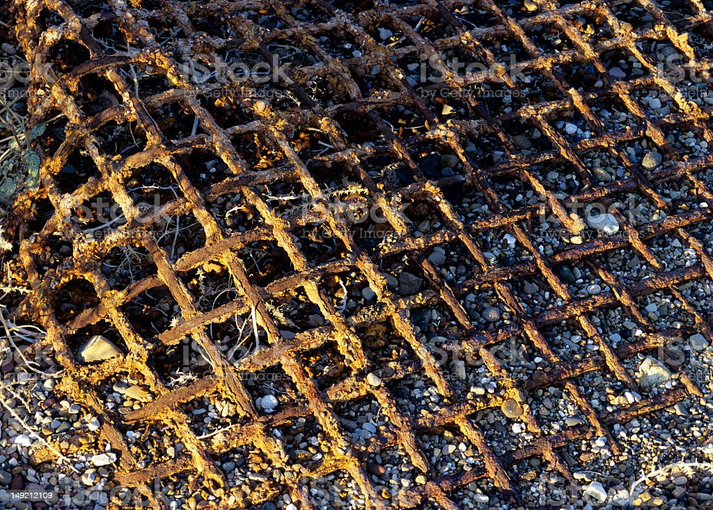 Rusted steel grate royalty-free stock photo