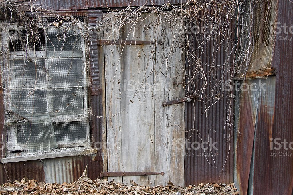 Rusted Tin House royalty-free stock photo