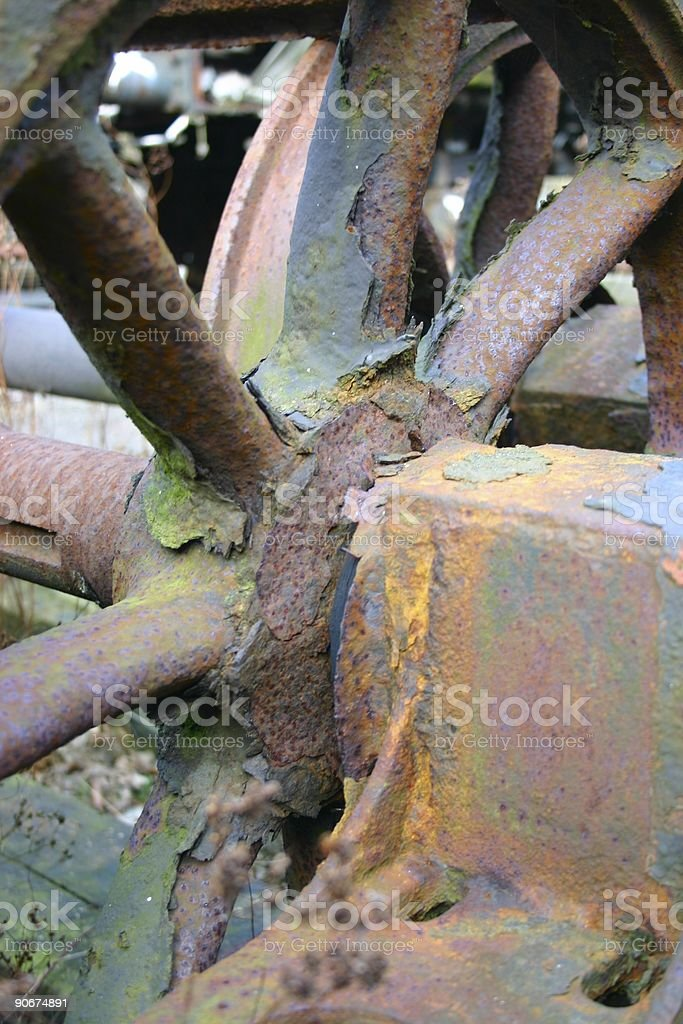 Rusted train axis royalty-free stock photo