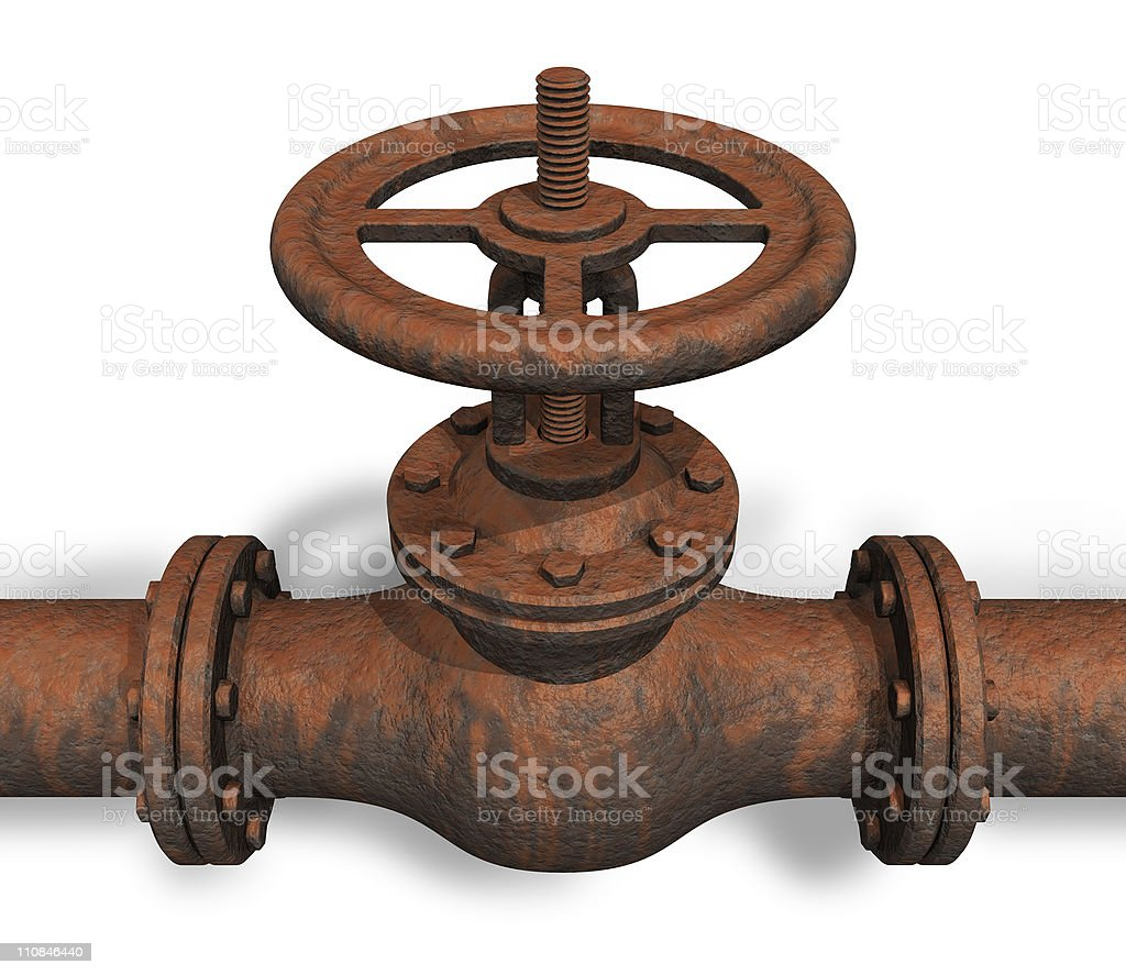 Rusted valve stock photo