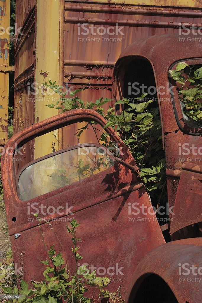 Oxidadas Vintage camión puerta foto de stock libre de derechos