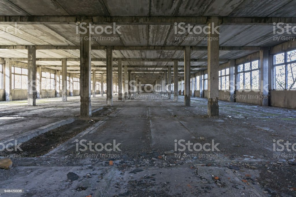 Rustic abandoned plant stock photo