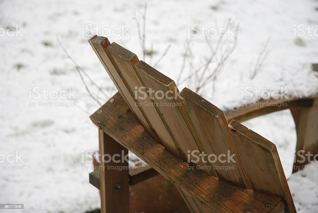 Rustic Adirondack in the Snow royalty-free stock photo