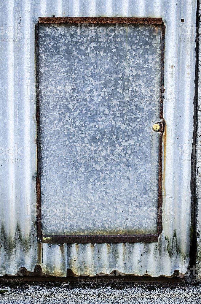 rustic aluminium door royalty-free stock photo