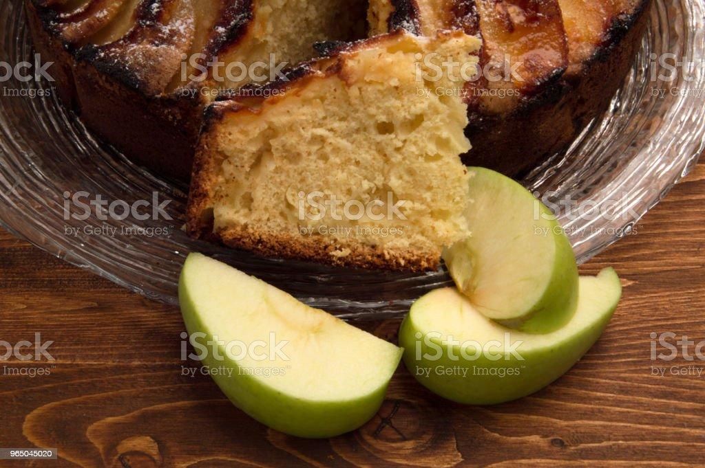 Rustic apple pie zbiór zdjęć royalty-free