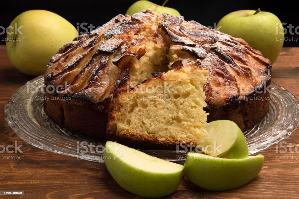 Rustic apple pie royalty-free stock photo