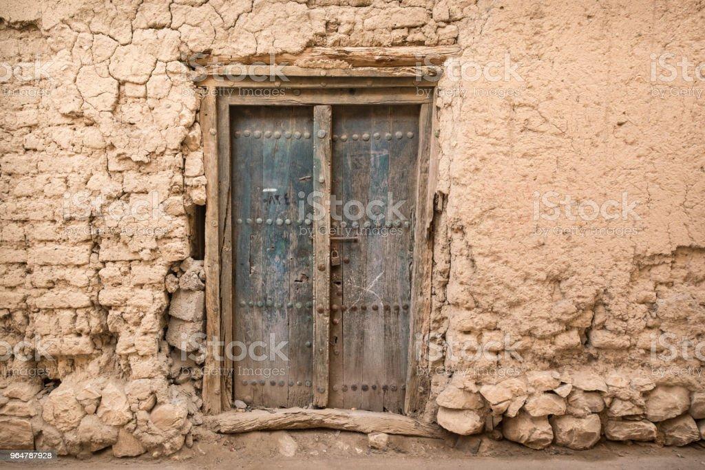Rustic Arabic door, Oman royalty-free stock photo