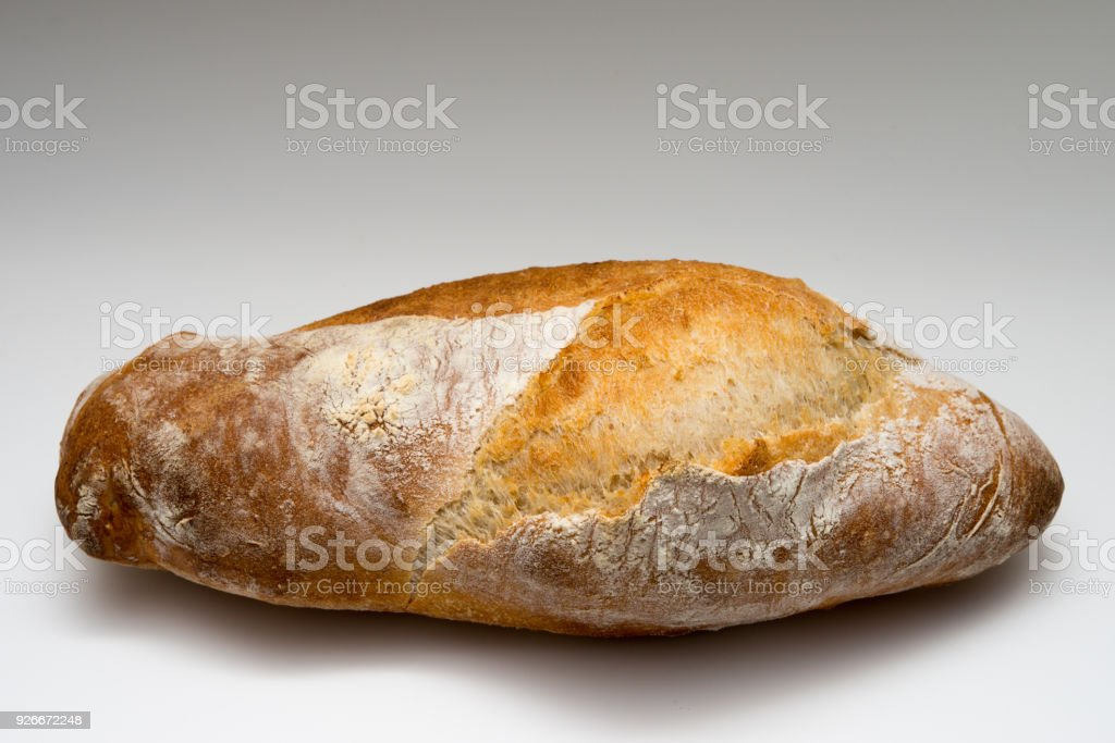 Rustic Artisan Bread On White Background Royalty Free Stock Photo