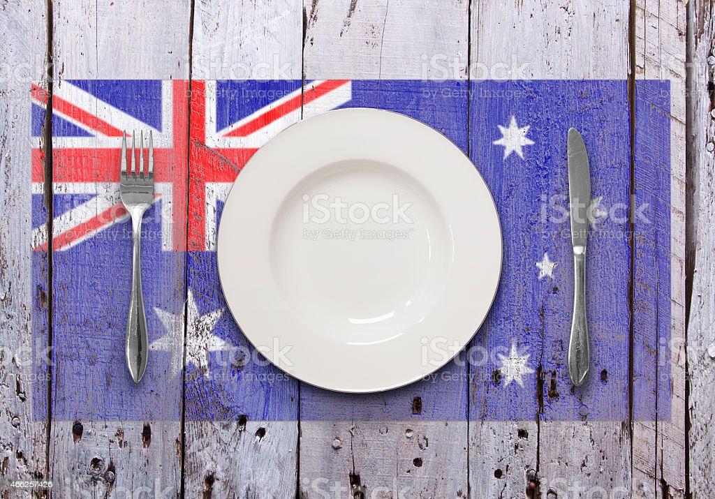 Rustic Australian Dining stock photo
