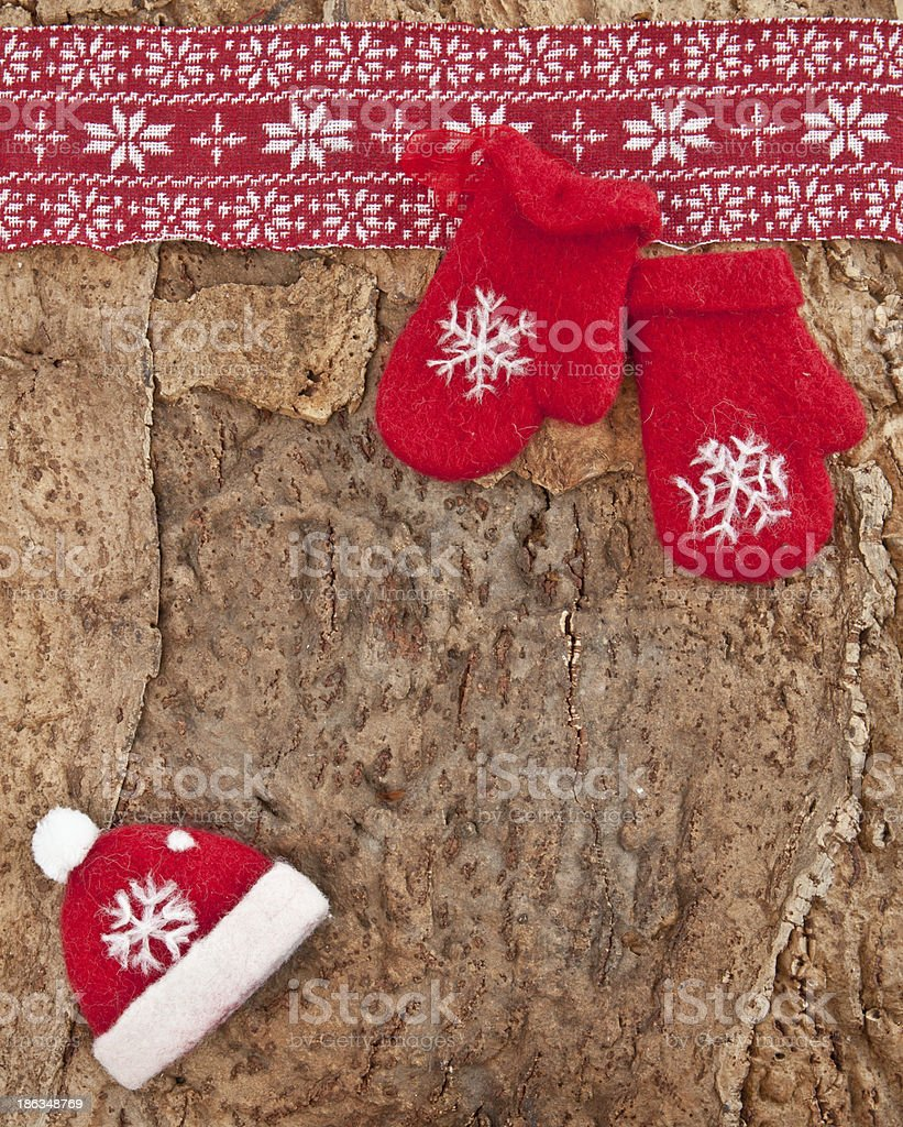 Rustic background for christmas royalty-free stock photo