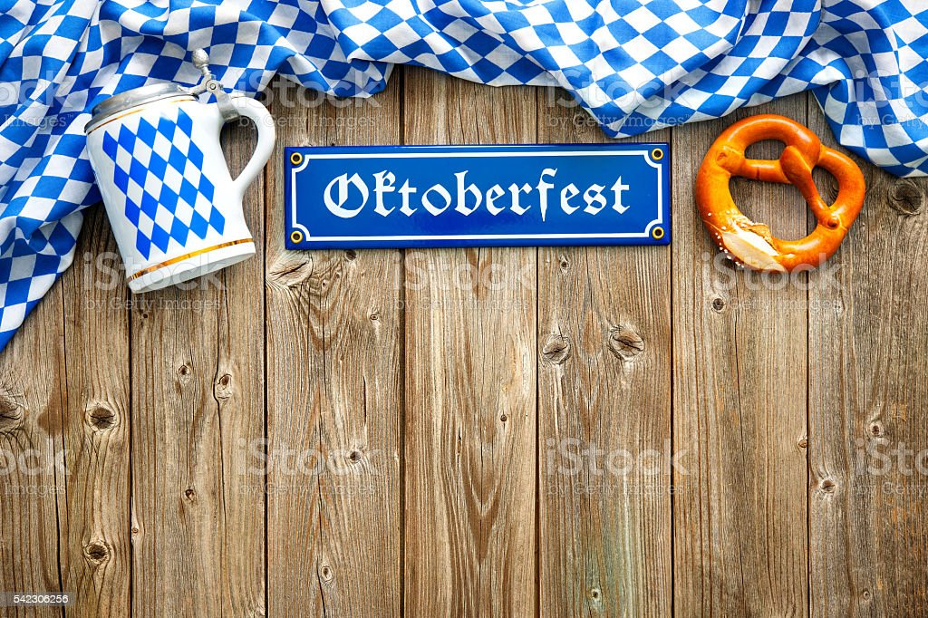 Rustic background for Oktoberfest - Photo