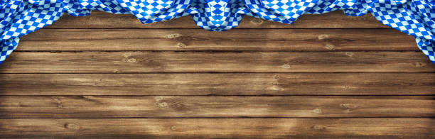 rustic background for oktoberfest - oktoberfest stock photos and pictures