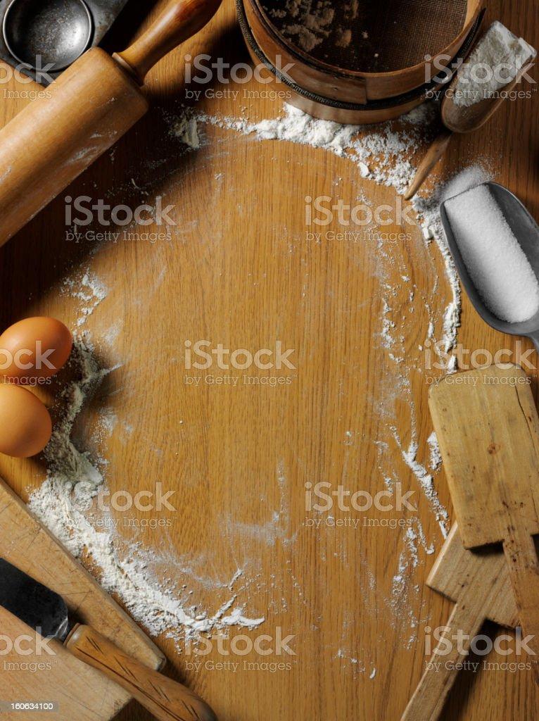 Rustic Baking Equipment royalty-free stock photo