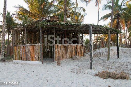 Rustic beach hut