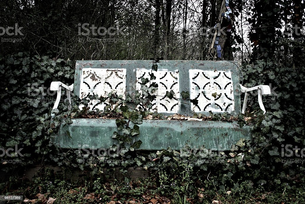 Rustic Bench royalty-free stock photo