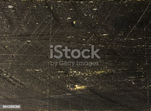 Rustic black painted timber textured