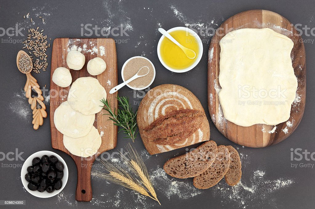 Rustic Bread Baking stock photo