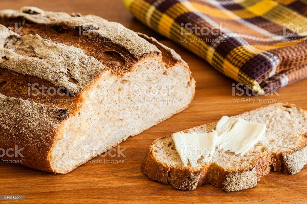Rustic Bread Closeup royalty-free stock photo
