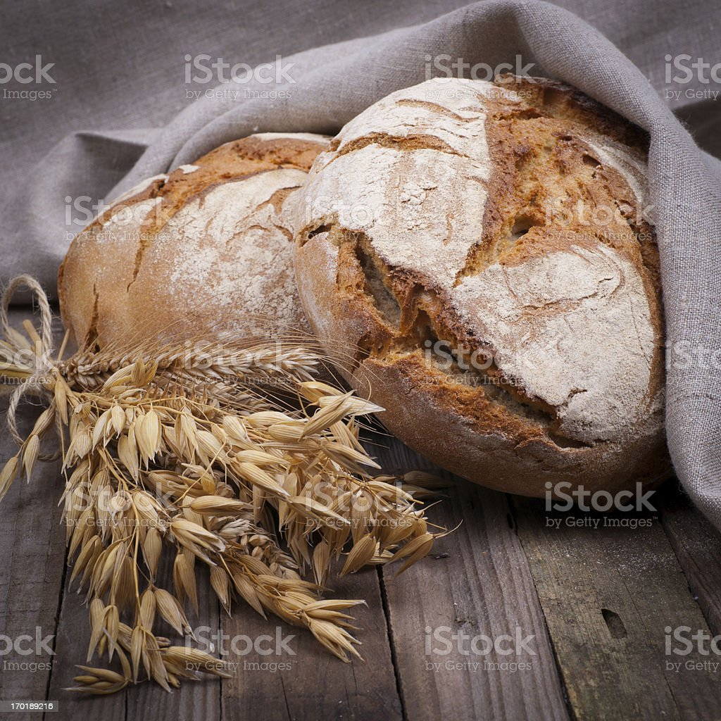 Rustic bread stock photo