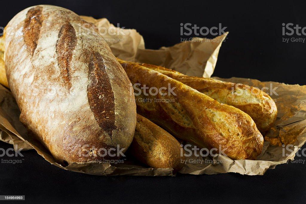 Rustic Breads Still Life stock photo