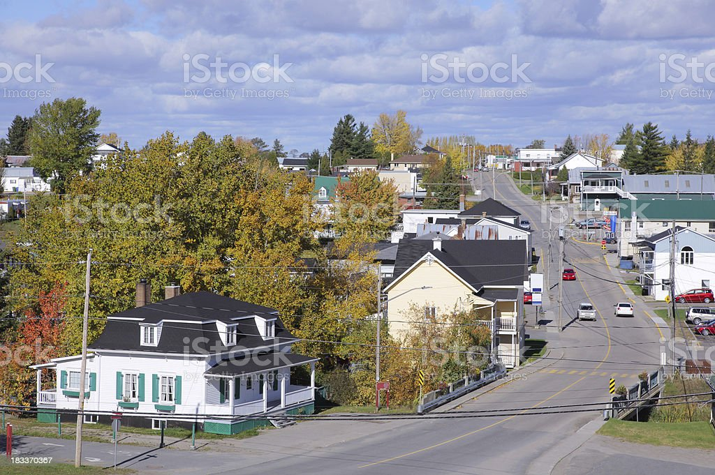 Rustic Canadian Village royalty-free stock photo