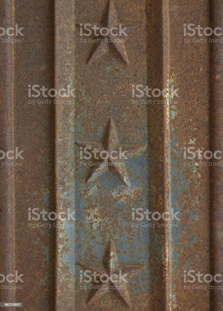 Rustic cast iron panel royalty-free stock photo