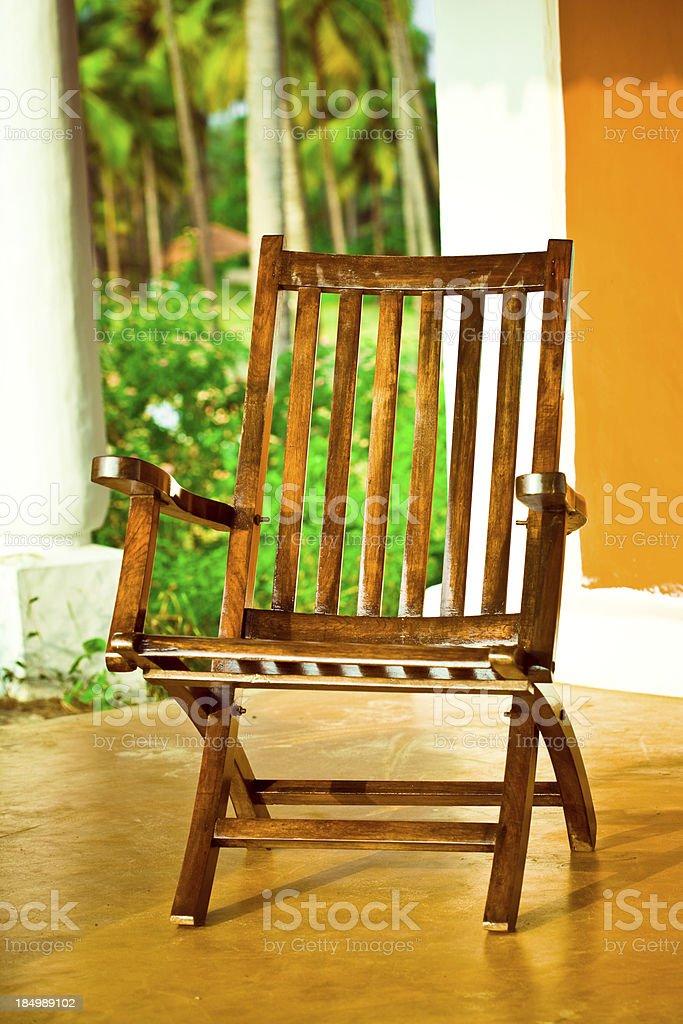 Rustikale Stuhl Lizenzfreies stock-foto