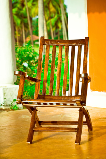 Rustic Chair Stock Photo - Download Image Now