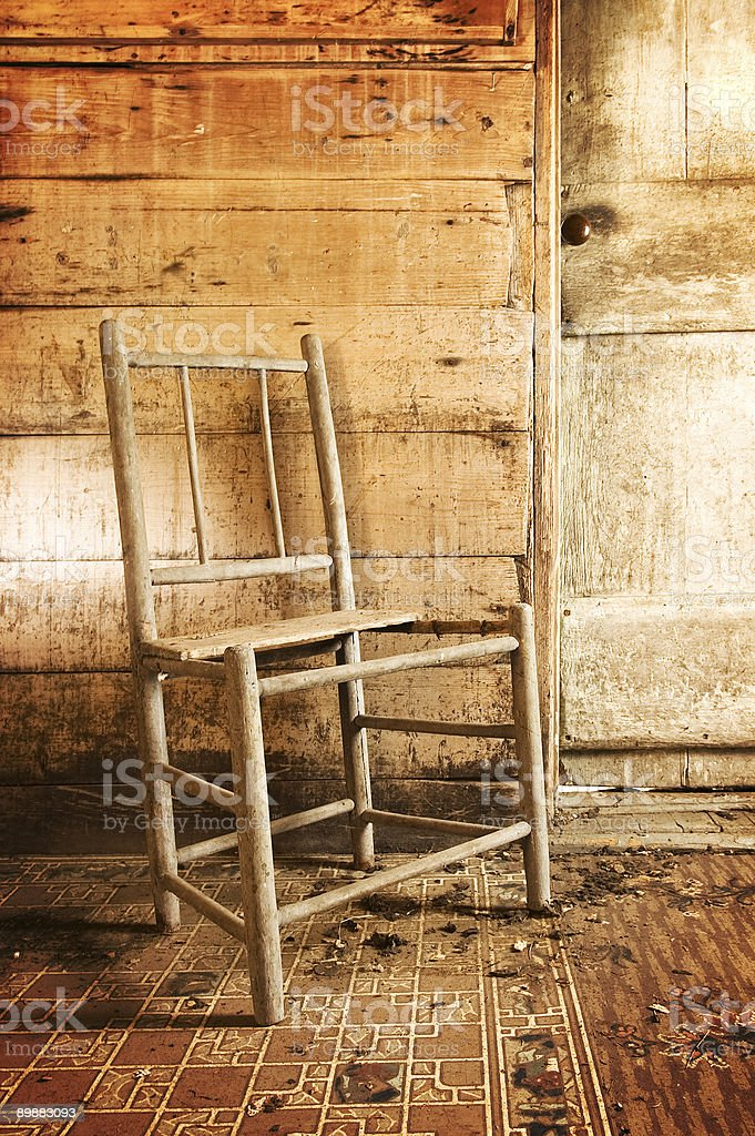 Rustic Chair royalty free stockfoto