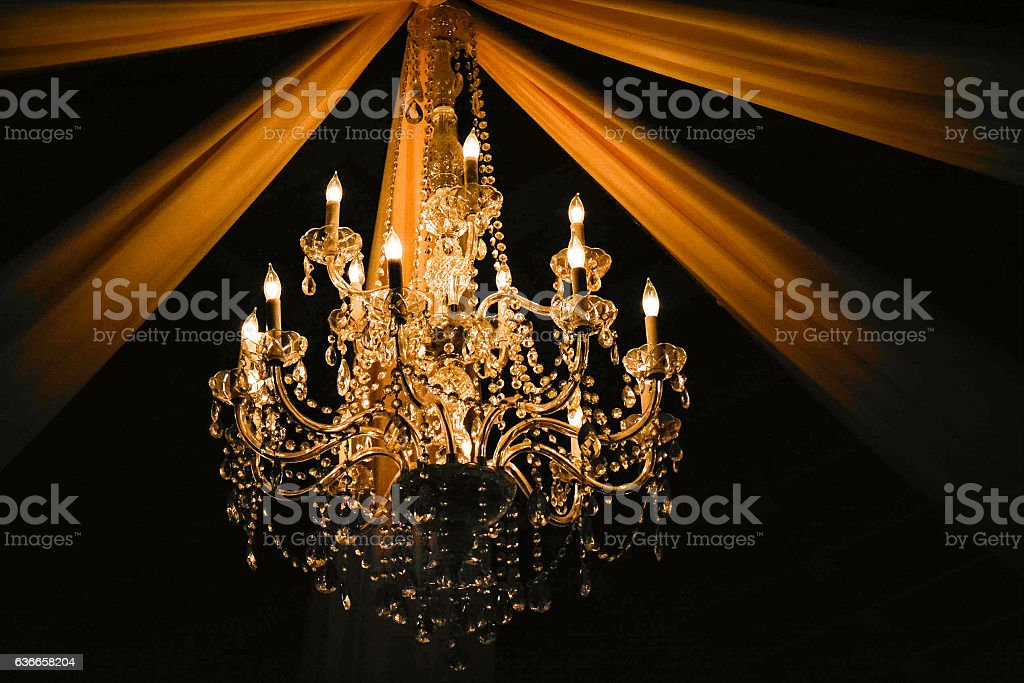 Rustic Chandelier stock photo