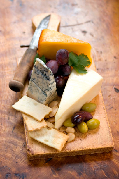 Rustic Cheese Plate stock photo