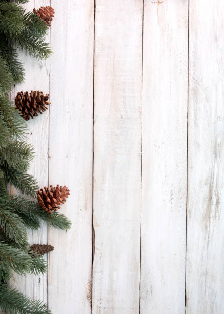 Rústica fondo de Navidad - foto de stock