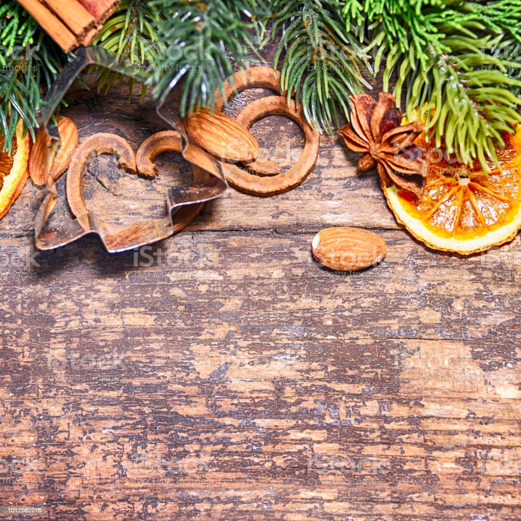 rustic christmas background with dry orange royalty free stock photo - Rustic Christmas Background