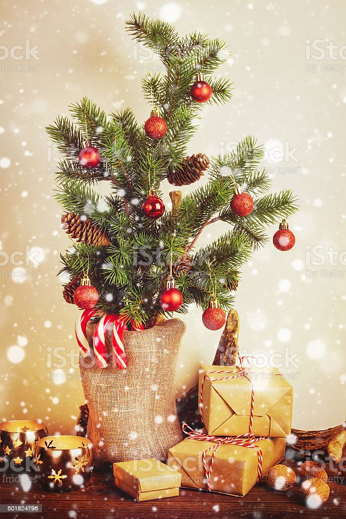 Rustic Christmas Decorations Stock Photo Download Image Now Istock