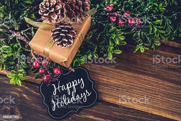 전원주의 크리스마스 선물 및 즐거운 휴가되시기 선물 카드 0명에 대한 스톡 사진 및 기타 이미지