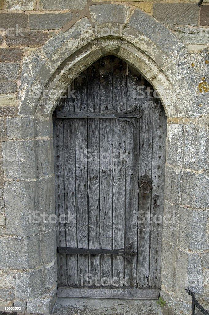 Деревенский Церковь вход Стоковые фото Стоковая фотография