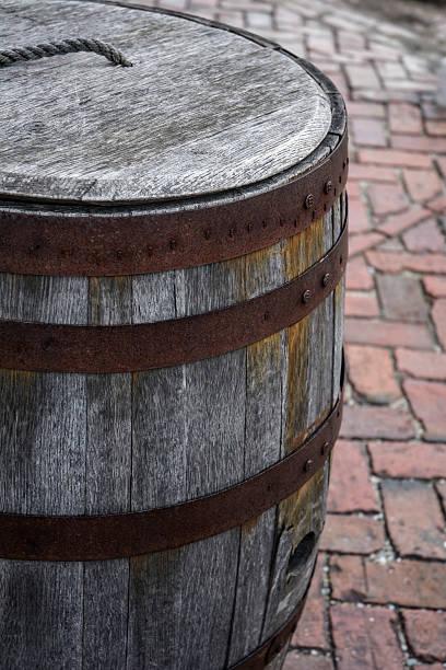 Rustic Civil War Wooden Rain Or Gunpowder Barrel Rustic Civil War Wooden Rain Or Gunpowder Barrel civil war memorial minnesota stock pictures, royalty-free photos & images
