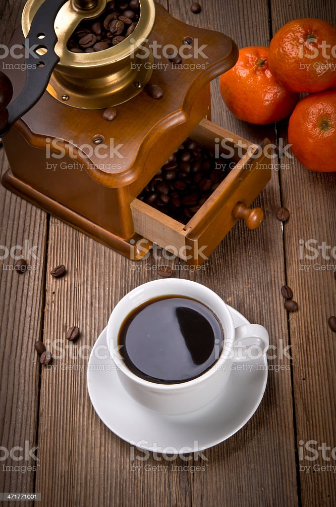 Rustic coffee grinder royalty-free stock photo