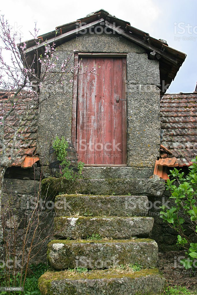 rustic countryside house entrance royalty-free stock photo