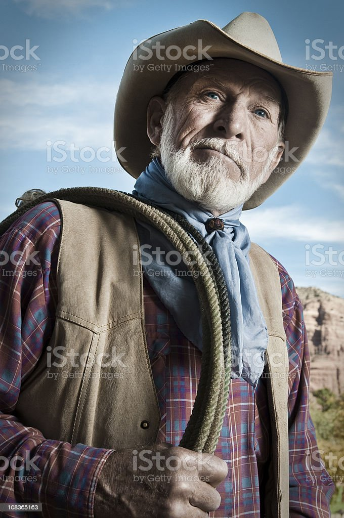 Rustic Cowboy royalty-free stock photo