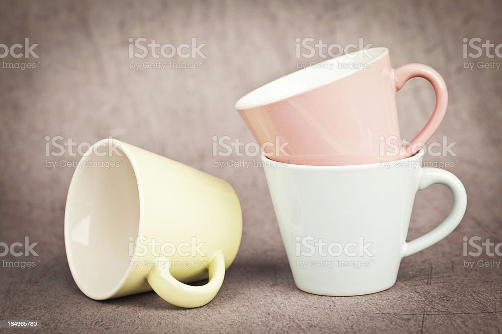 Rustic Cups stock photo