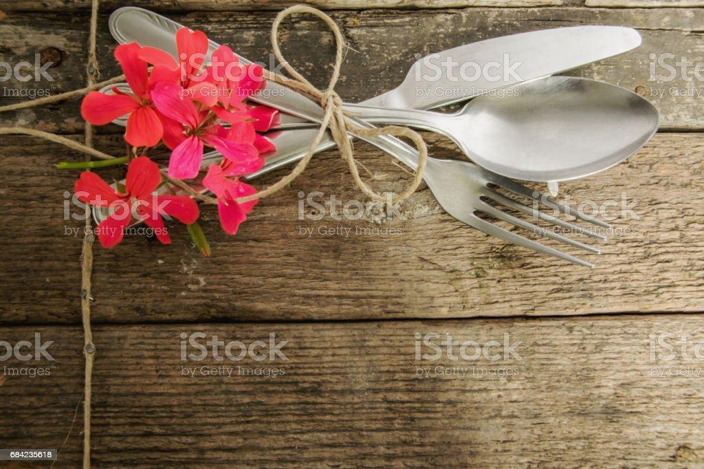 Rustic cutlery photo libre de droits