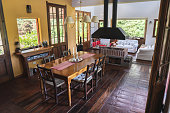 Dining room, Rustic, House, Wood, Day