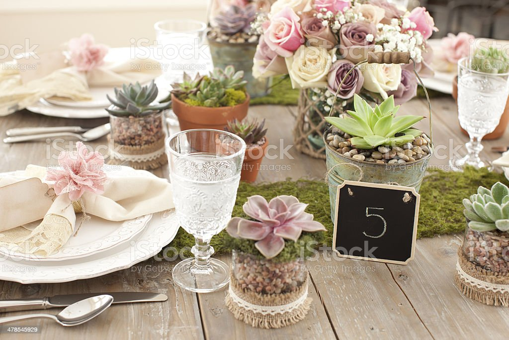 Rustic Dining Table royalty-free stock photo