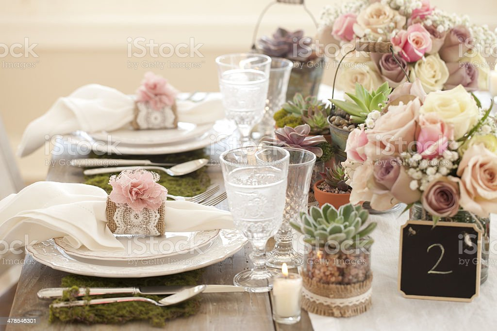 Rustic Dining Table stock photo