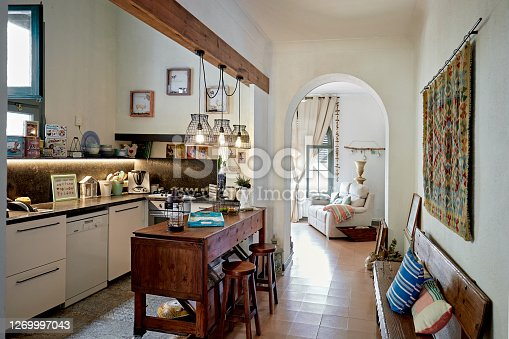 istock Rustic Domestic Kitchen in Spanish Home 1269997043