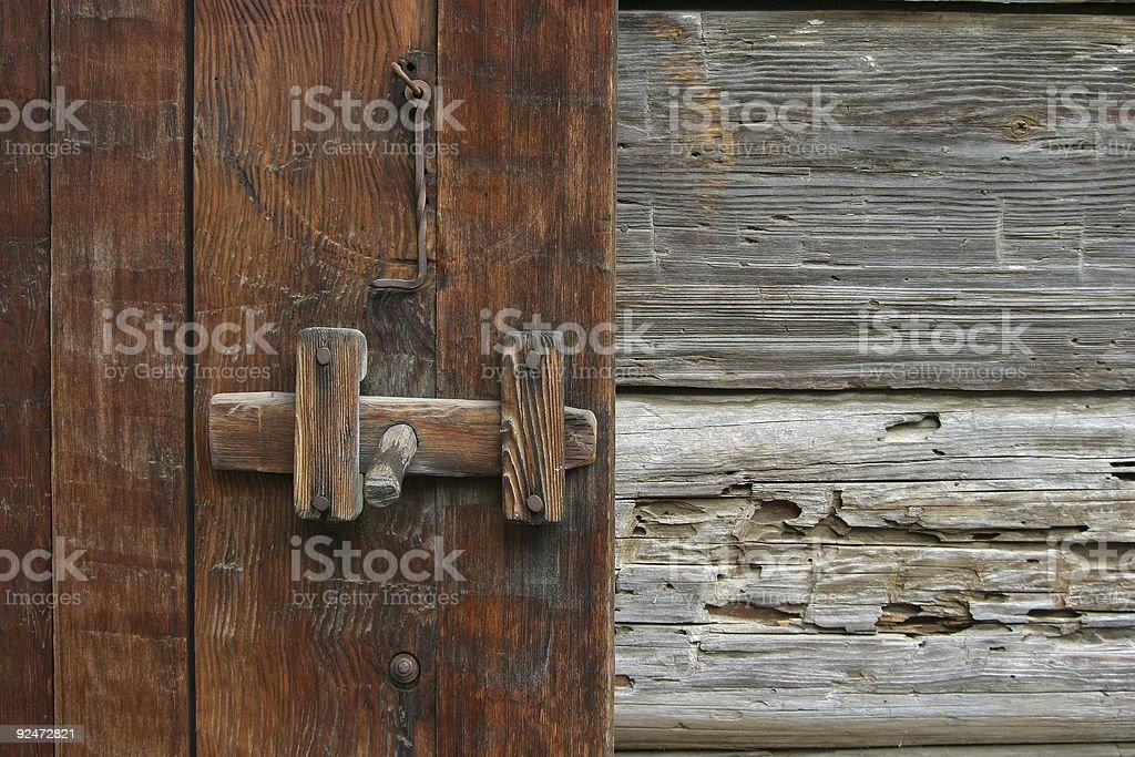 Rustic Door Latch royalty-free stock photo