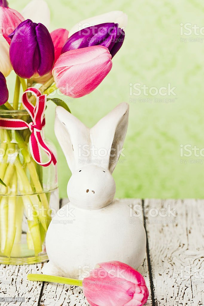 Rustic Easter Still Life royalty-free stock photo
